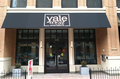 Yale West Apartments Sign